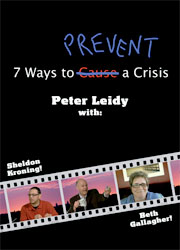 "DVD cover for ""7 Ways to Prevent a Crisis """